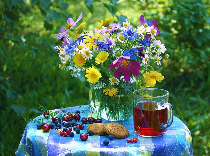 Картинка доброе утро летнее настроение