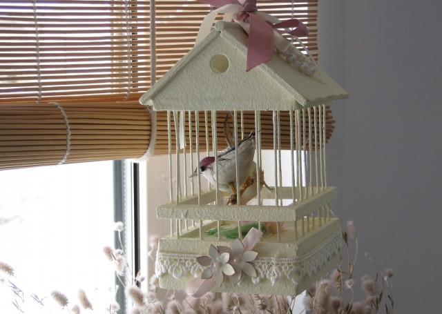 Как сделать декоративную клетку для птиц своими руками