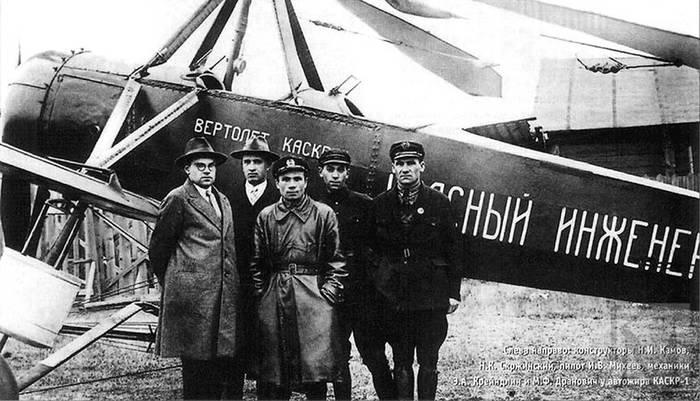 первый советский вертолёт Каскр-1 «Красный инженер».