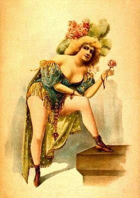 танцовщица Мулен-Руж разделась перед публикой
