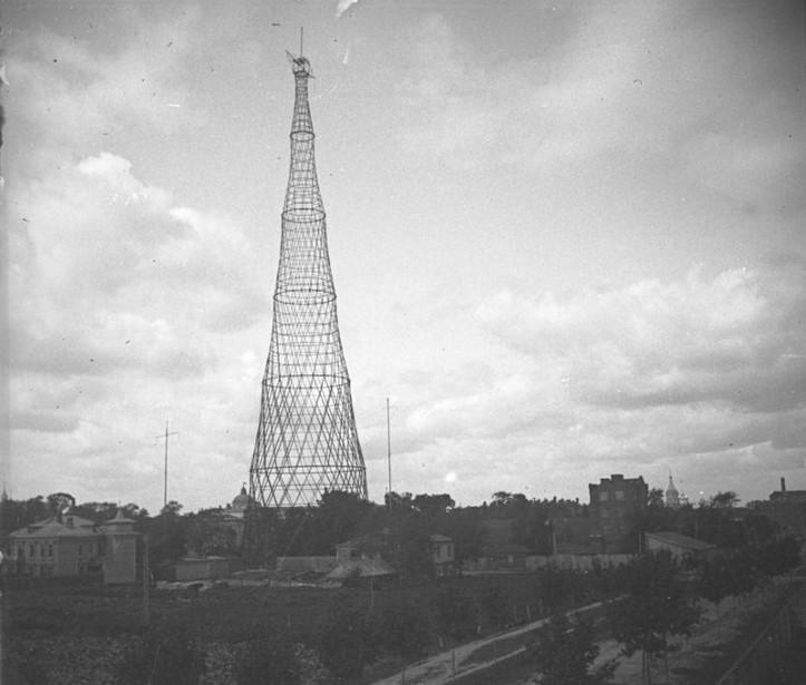 радиопередающая башня на Шаболовке