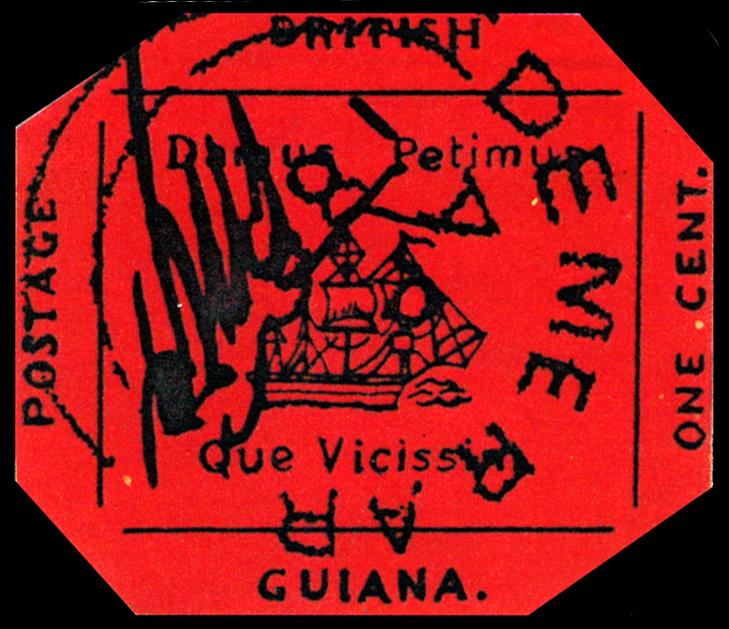 марка колонии Британская Гвиана