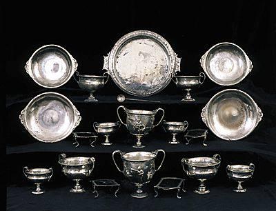 серебряный столовый сервиз