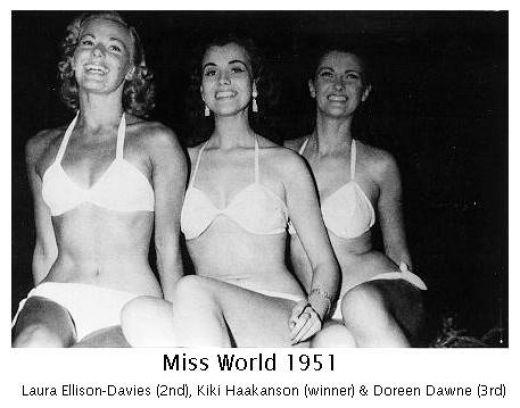 первый конкурс красоты «Мисс Мира»