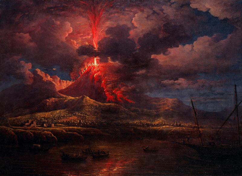 Извержение вулкана Везувия уничтожило города Помпеи и Геркуланум