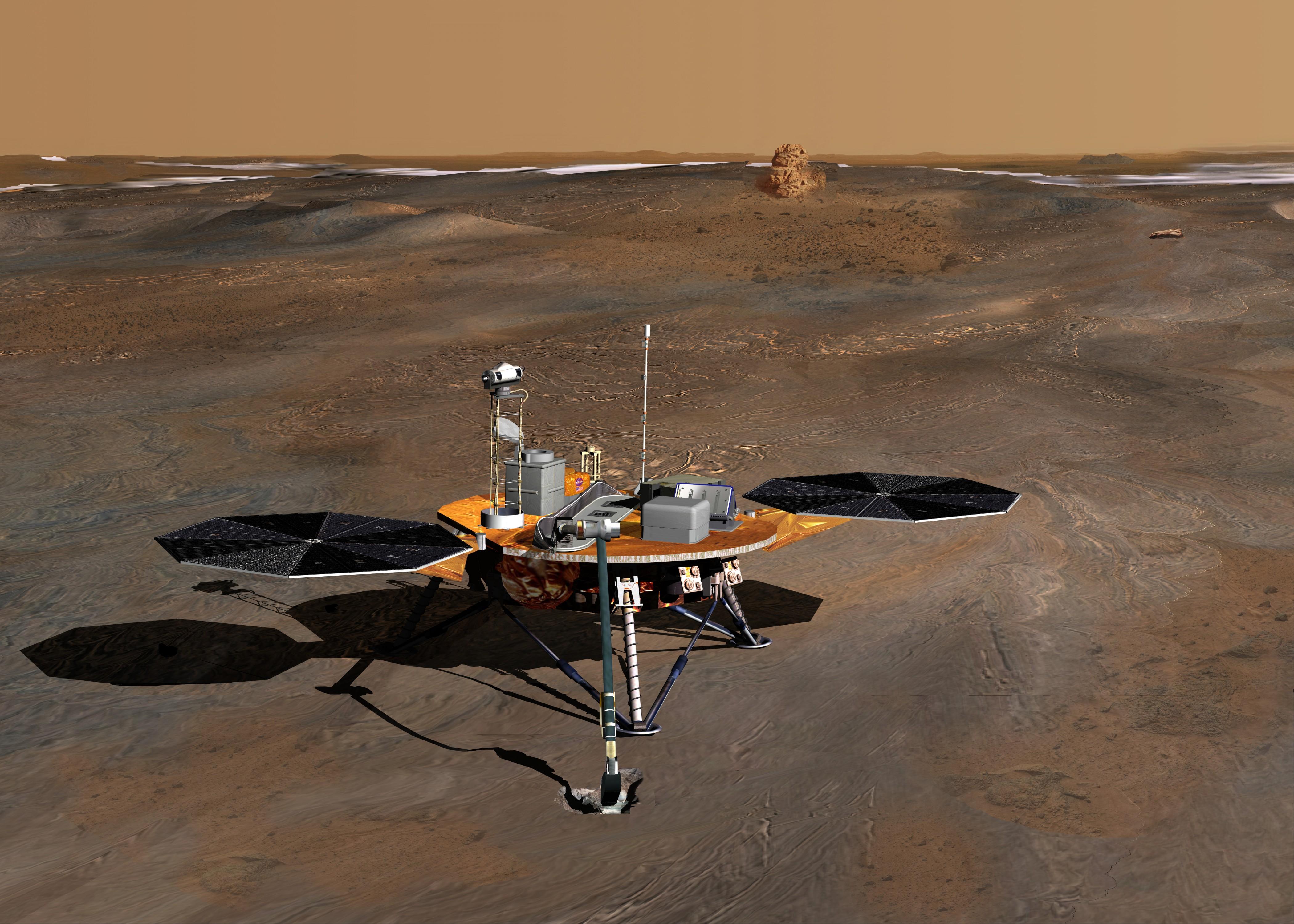 Первые фотографии с Марса прислал американский марсоход