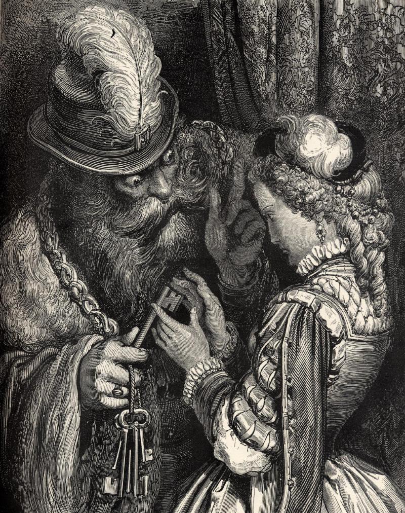 Синяя борода, гравюра Гюстава Доре.
