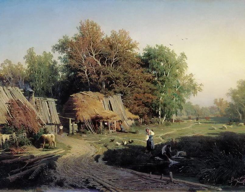 Ф. А. Васильев. Деревня. 1869