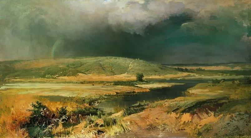Ф. А. Васильев. Волжские лагуны. 1870