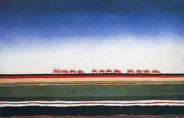 Казимир Малевич. Скачет красная конница. 1928-1932.