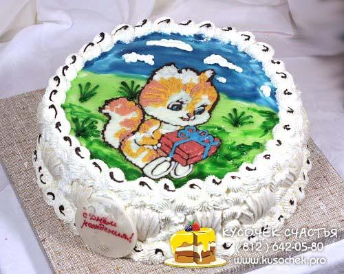 Гелевые рисунки на тортах