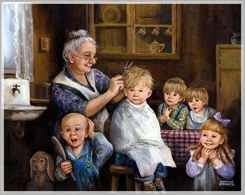 Старушка со внуками фото 165-319
