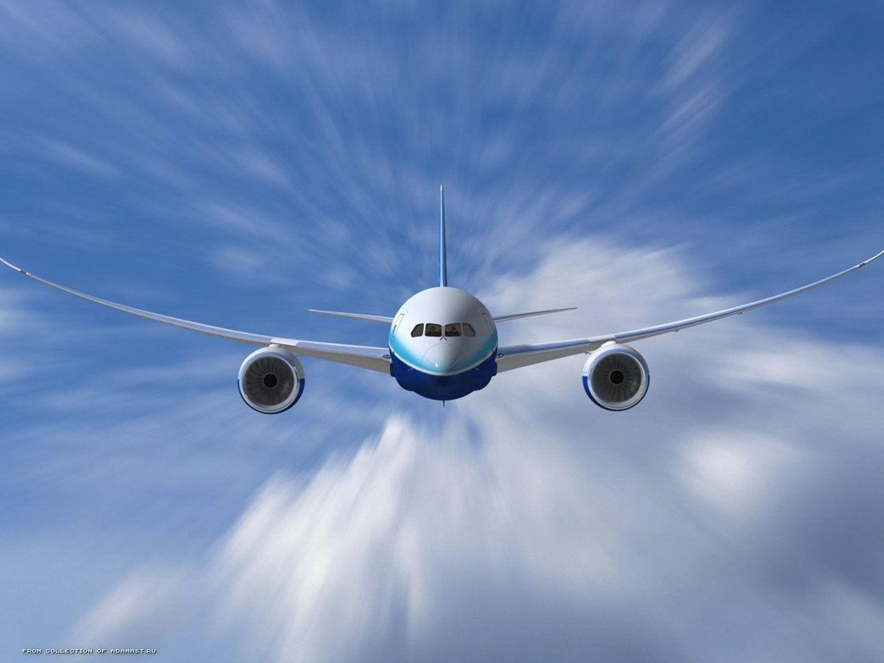 Самолёт в облаках