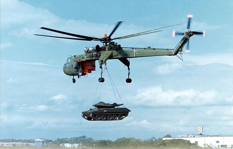 Вертолет кран
