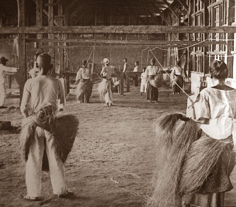 Плетение манильской пеньки