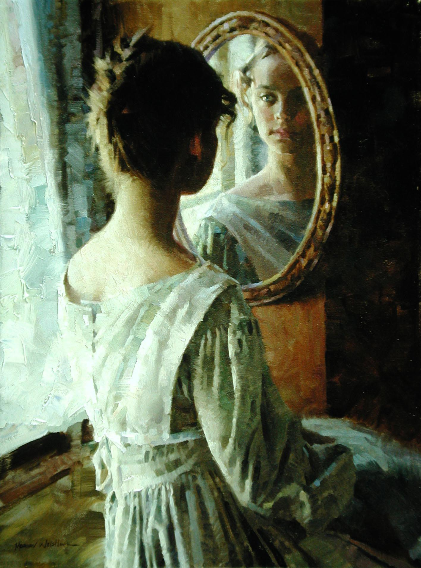 Блондинка в зеркале