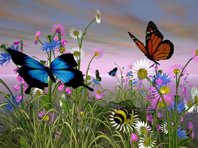 Мелодия бабочки летают скачать