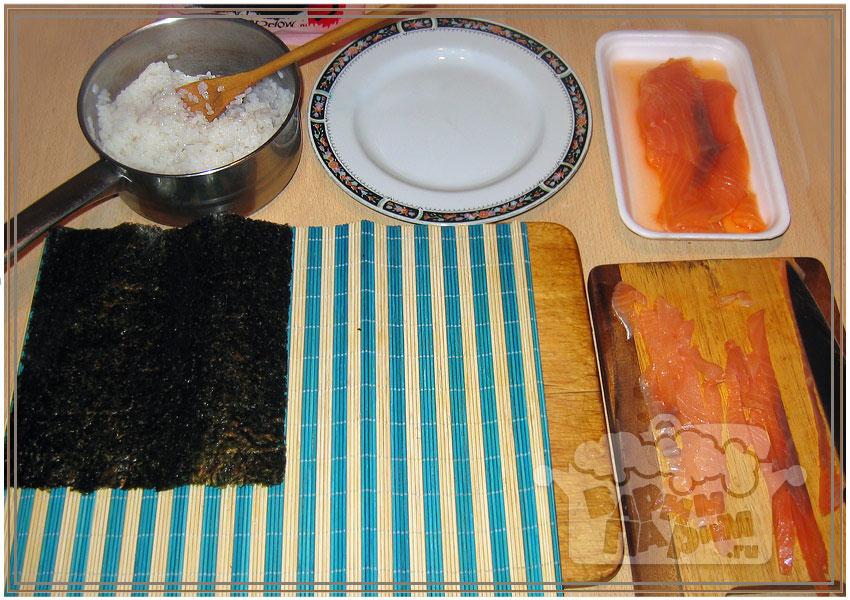 приготолвение суши в домашних услових