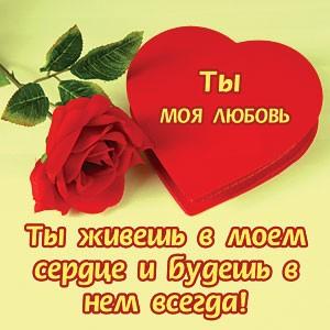 ты любовь моя картинка
