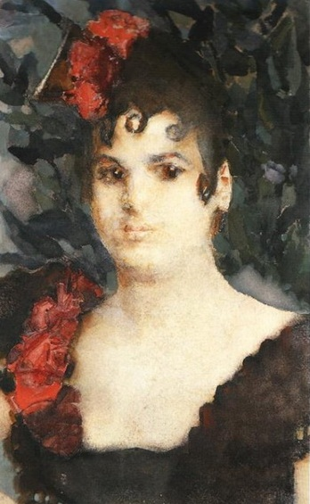 Портрет Т.С.Любатович в роли Кармен (1895)
