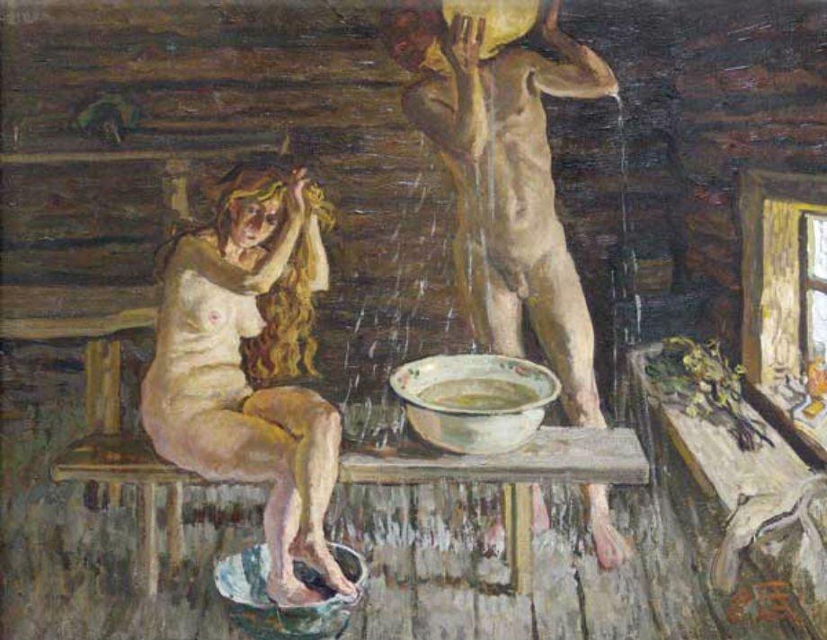 предлагаем видео женщины моются в бане мамочки неопытнык