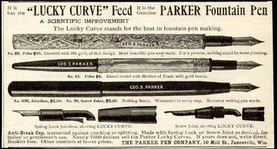 Джордж Паркер запатентовал свою первую письменную ручку.