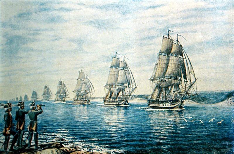 День Черноморского флота - Екатерина II подписала указ об основании Черноморского флота.
