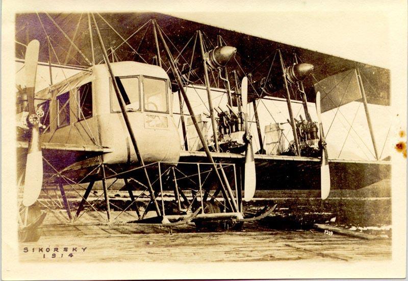 многомоторный самолет «Русский витязь» инженера Сикорского