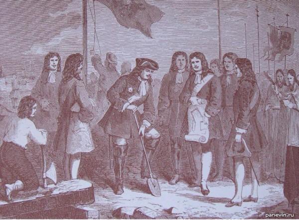 Пётр I заложил Петропавловскую крепость
