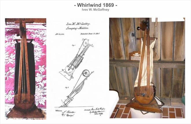 Американец Айвз Макгаффни запатентовал пылесос «Whirlwind»