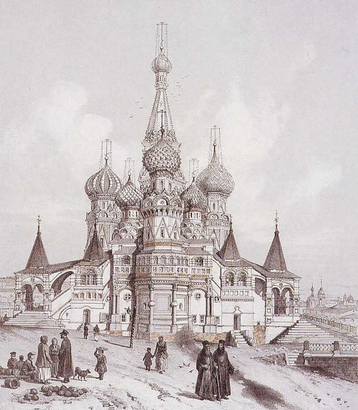 Покровский собор, известного также под названием Храма Василия Блаженного