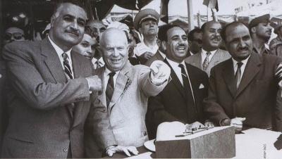 Никита Хрущев и Гамаль Абд аль-Насер