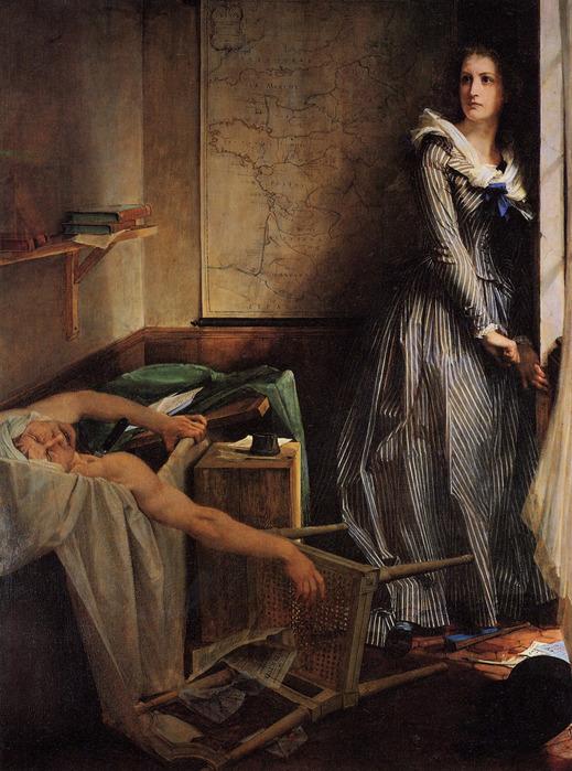 Шарлотта Корде. Картина художника Бодри (1868)