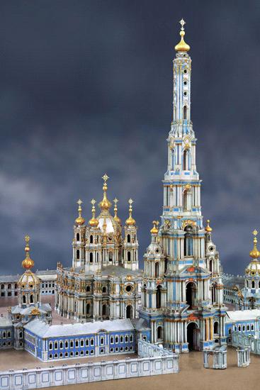 проект 140-метровой колокольни Смольного собора