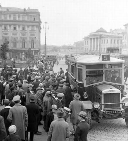 первая регулярная внутригородская автобусная линия