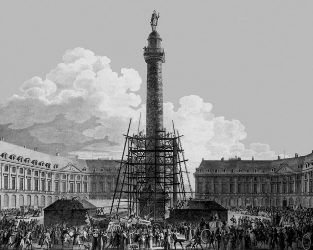 В Париже была воздвигнута Вандомская колонна