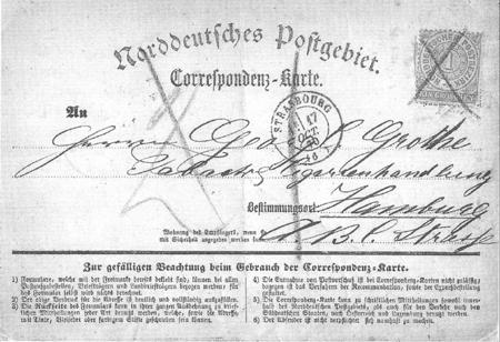 первая в мире почтовая открытка с маркой