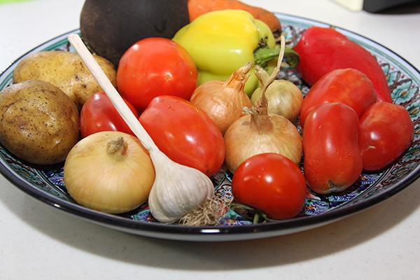 овощи на лагман