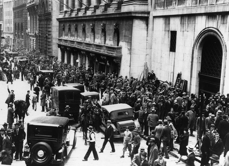 «Черный вторник»: на нью-йоркской фондовой бирже окончательно рухнул рынок акций