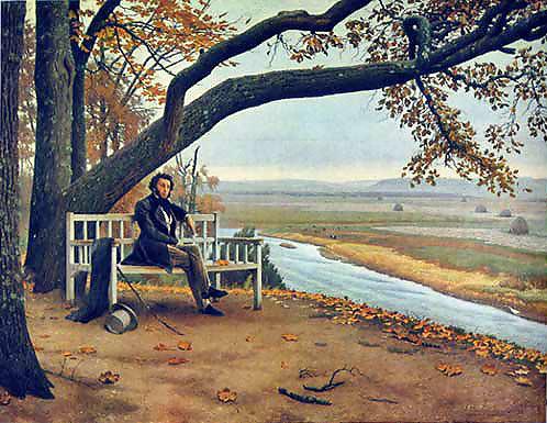 Пушкин на скамье Онегина