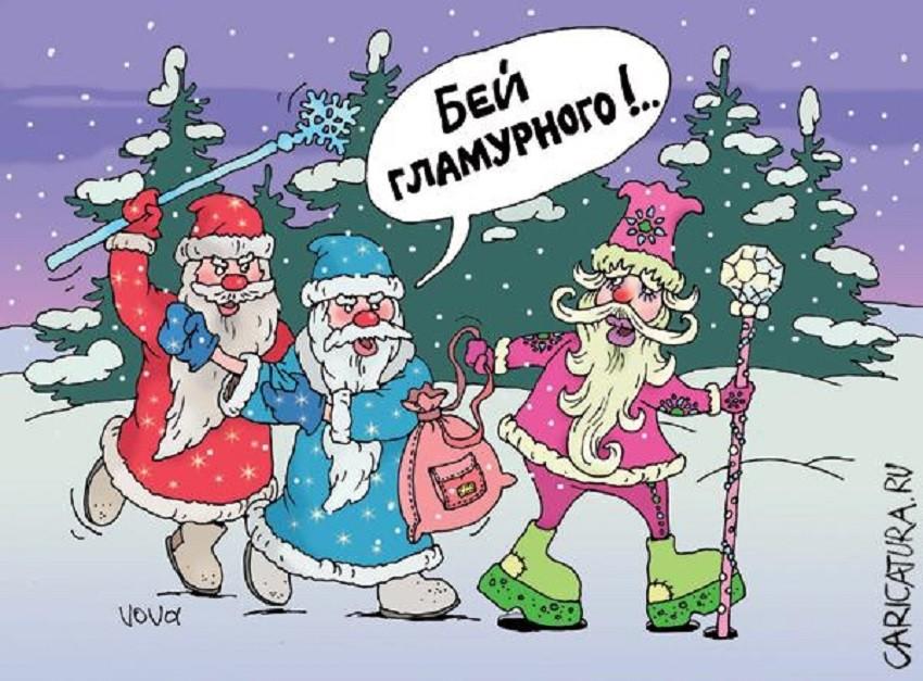 Анекдоты про новый год с картинками новые
