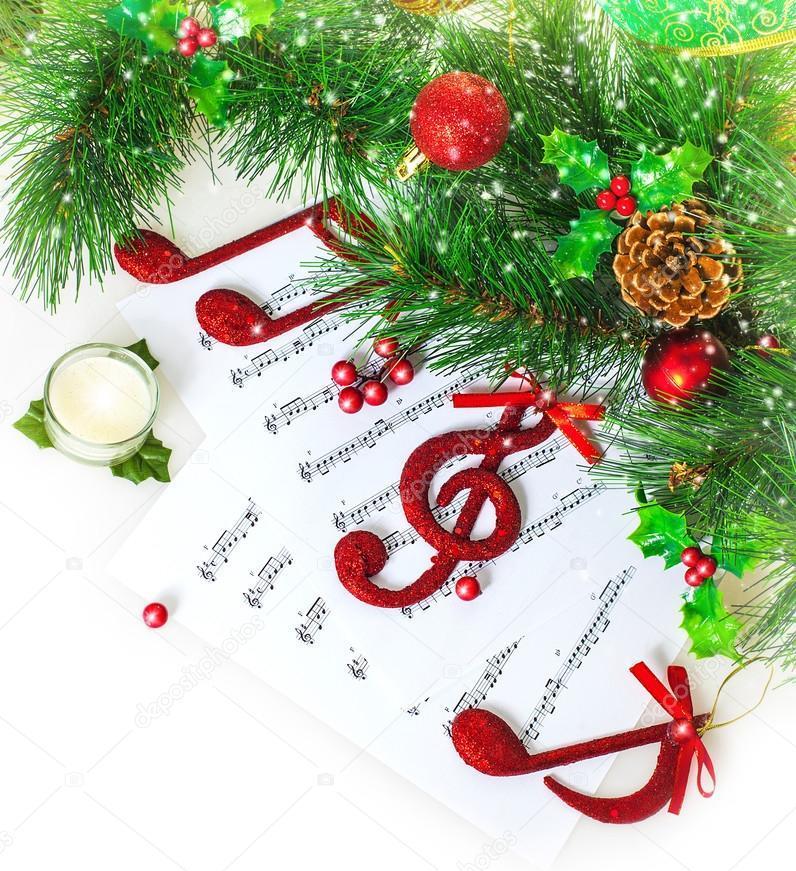 Открытка музыка новый год