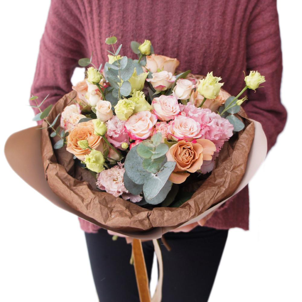 Доставка цветов с фотоотчетом, букета тюльпанов