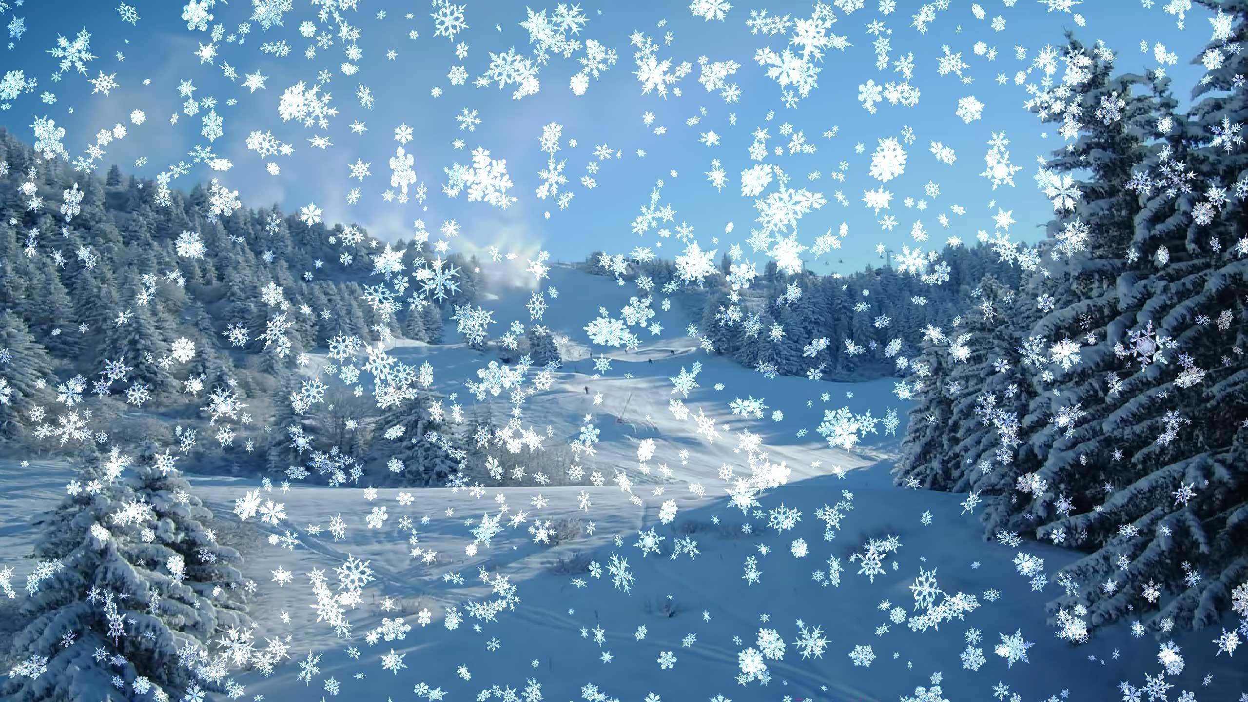 Открытка а снег идет
