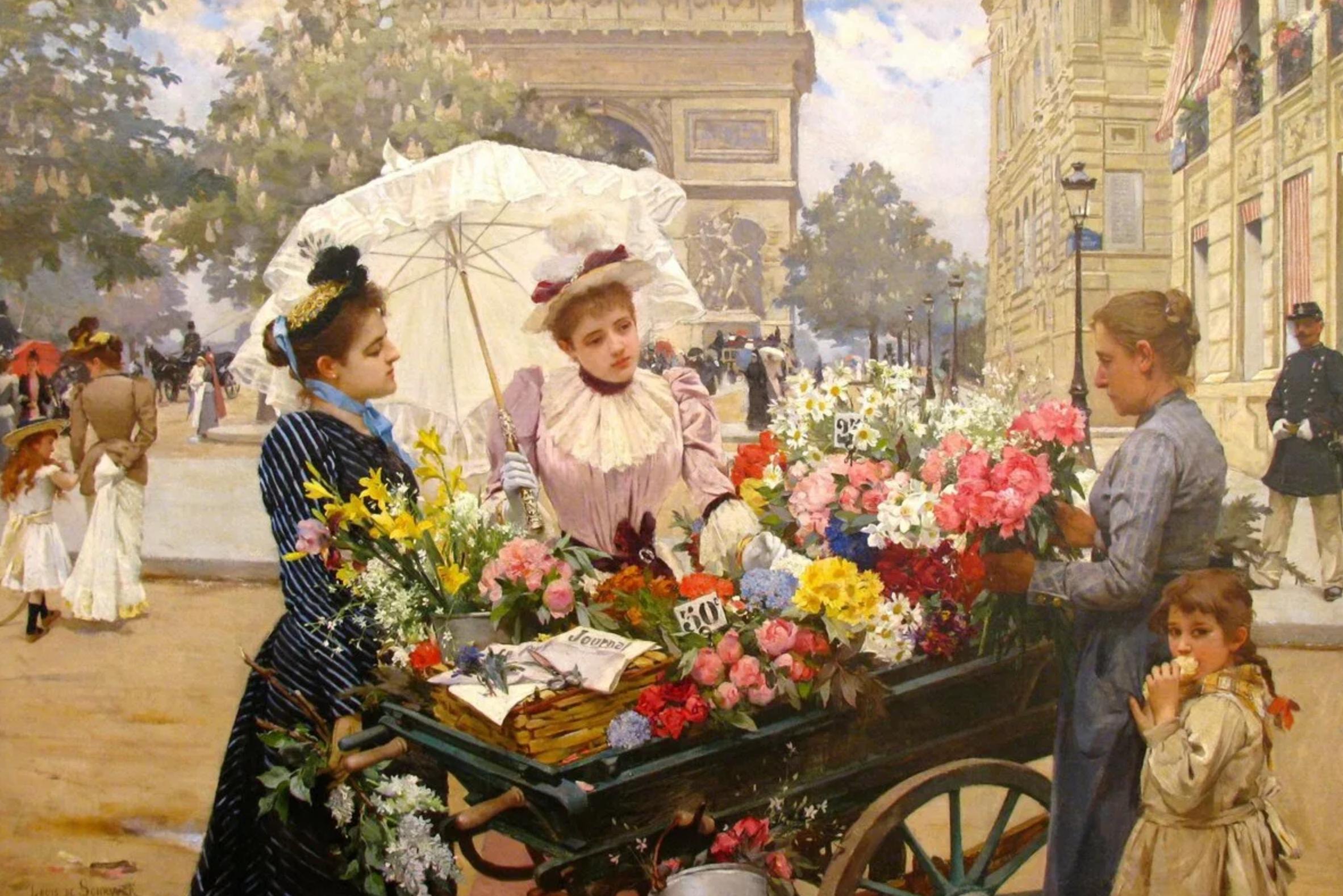 Традиции дарить цветы