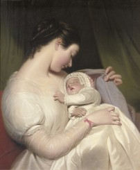 James Sant The artist's wife Elizabeth with their daughter Mary Edith.jpg