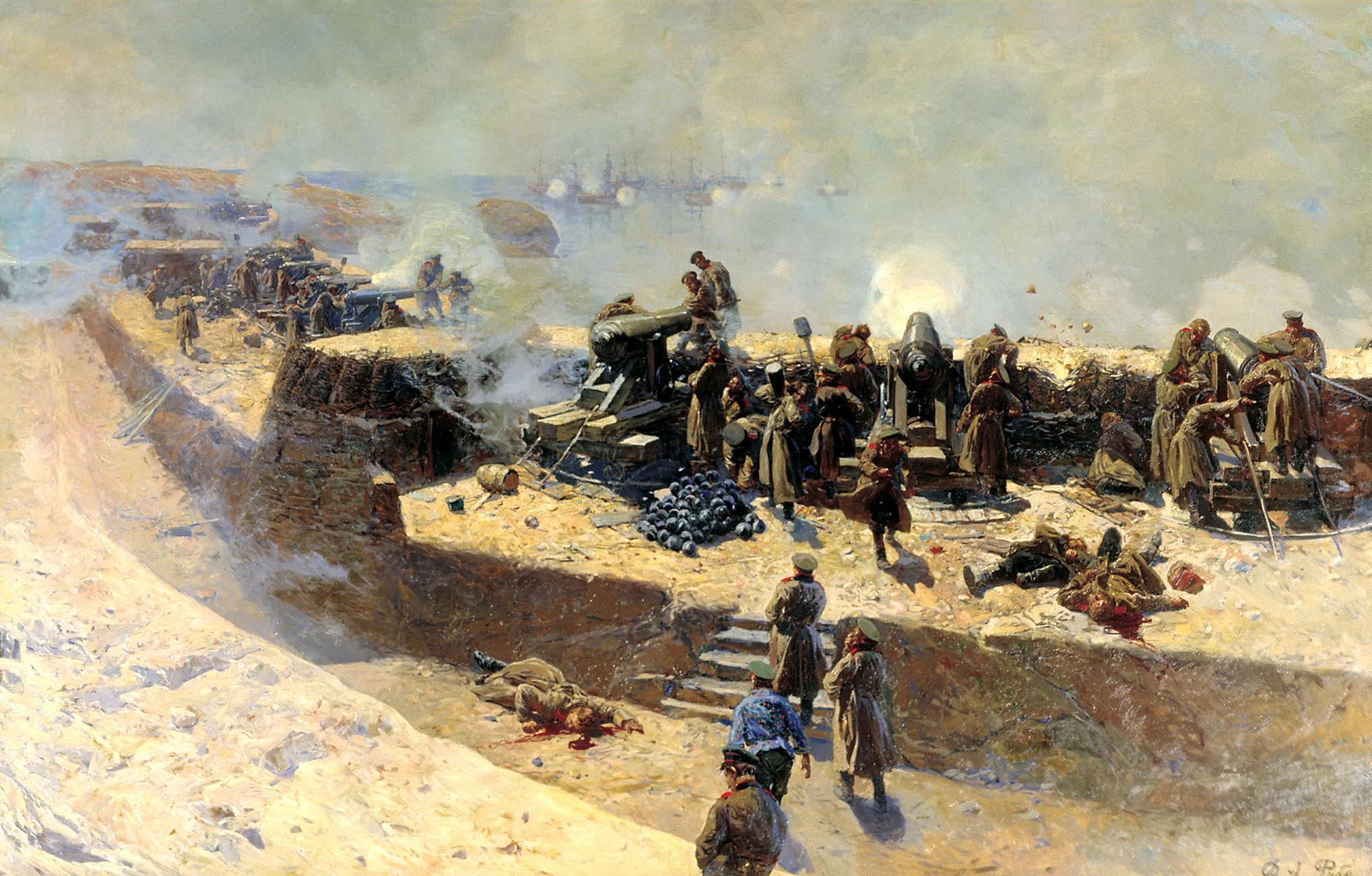 http://tunnel.ru/tmp/IWaLMmfdFTsRNE27zpA6/otrajenie-bombardirovki-anglo-frantsuzskogo-flota-so-storonyi-aleksandrovskoy-batarei-5-oktyabrya-1854-goda.-hudojnik-f.a.-rubo..jpg